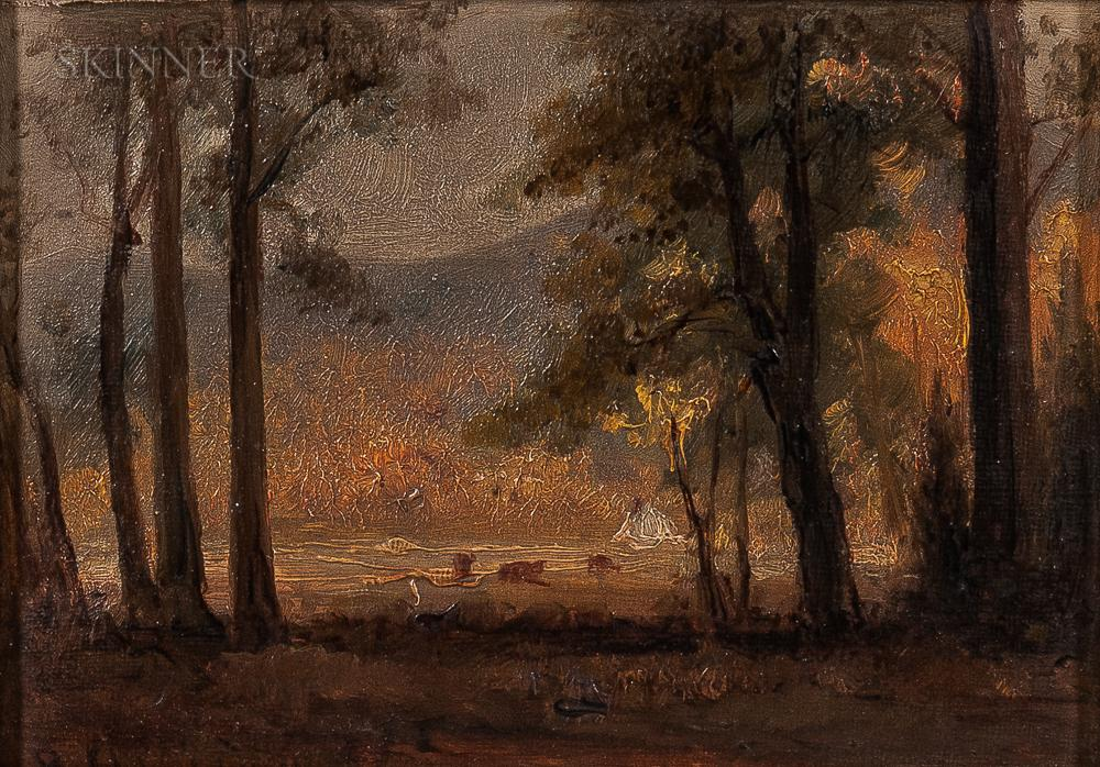 """""""View Through the Trees."""" No date."""