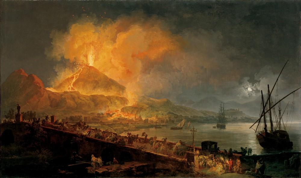 """""""The Eruption of Mount Vesuvius."""" 1777."""