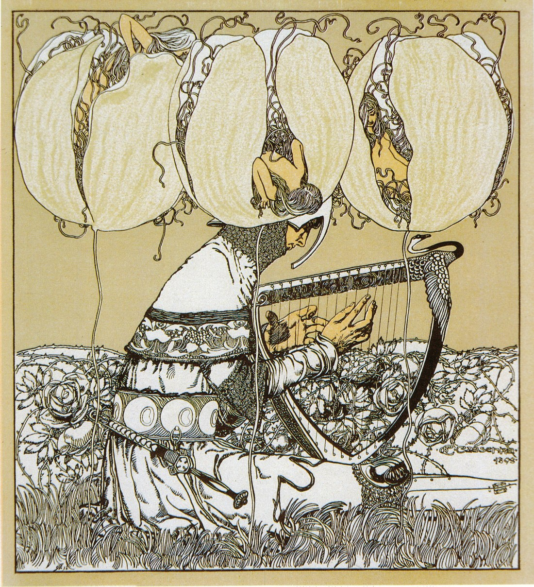 """Vignettes"" (detail). Plate 114 from Gerlach's ""Allegorien."""