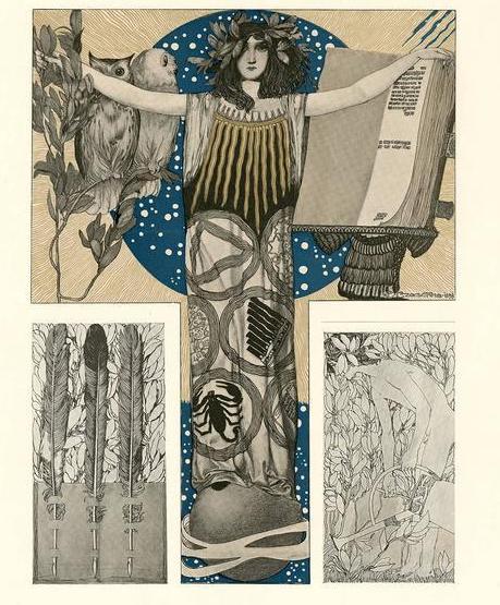 """Science."" Plate 93 from Gerlach's ""Allegorien."""