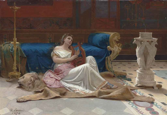"""""""Lydia and the Lyre."""" 1874."""