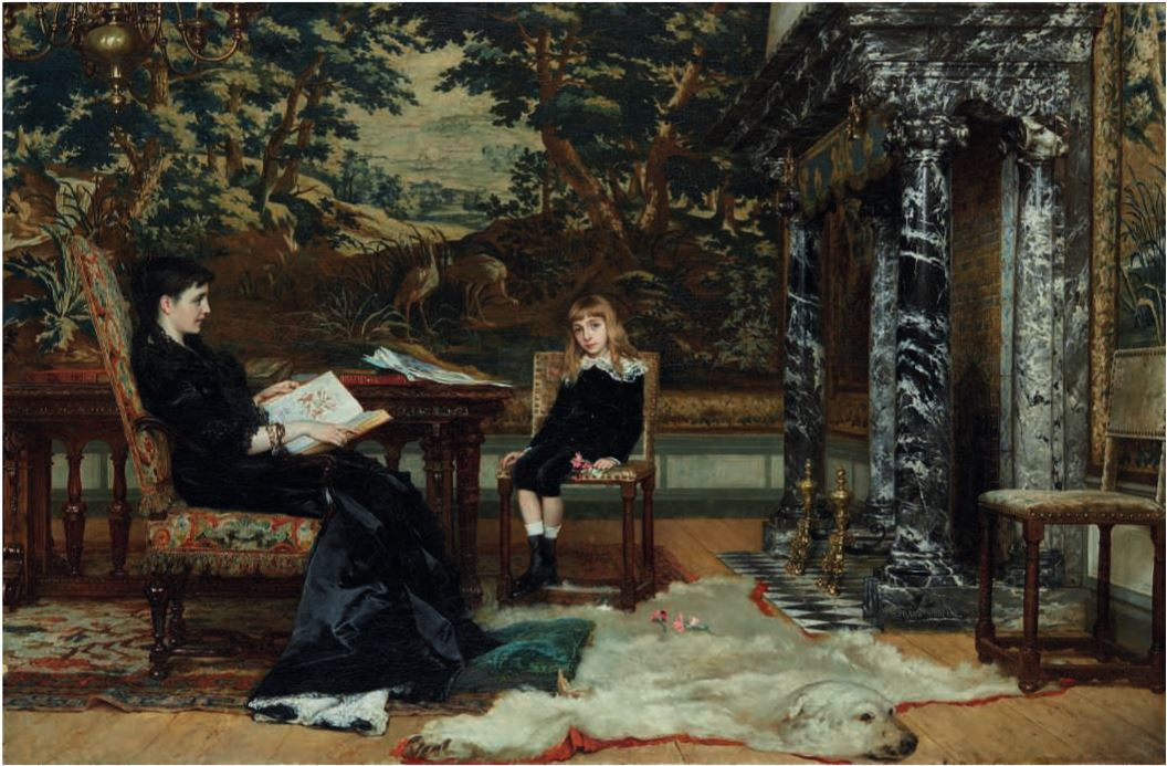 """La lecture au salon."" 1850-1894."