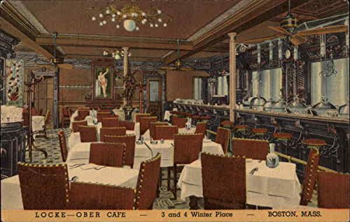 """Locke-Ober Cafe - 3 and 4 Winter Place - Boston, Massachusetts."" Vintage postcard."