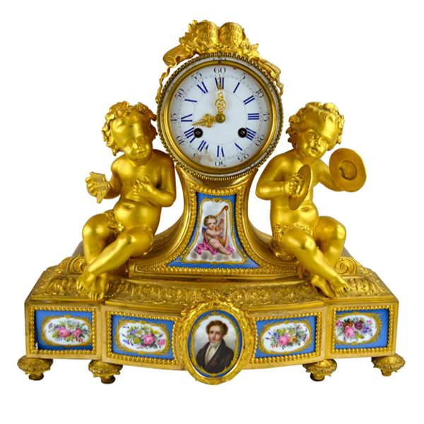 Mantle clock. Napoleon III in style, mid 19th c.