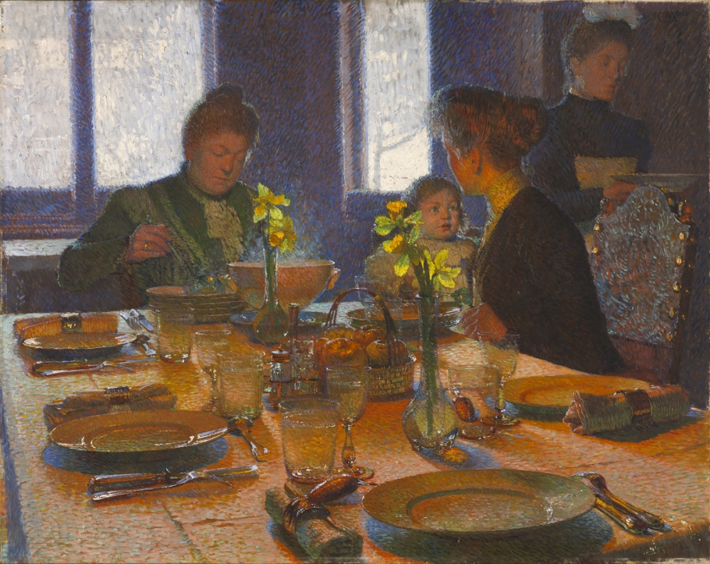 """""""At the Lunch Table."""" 1901."""