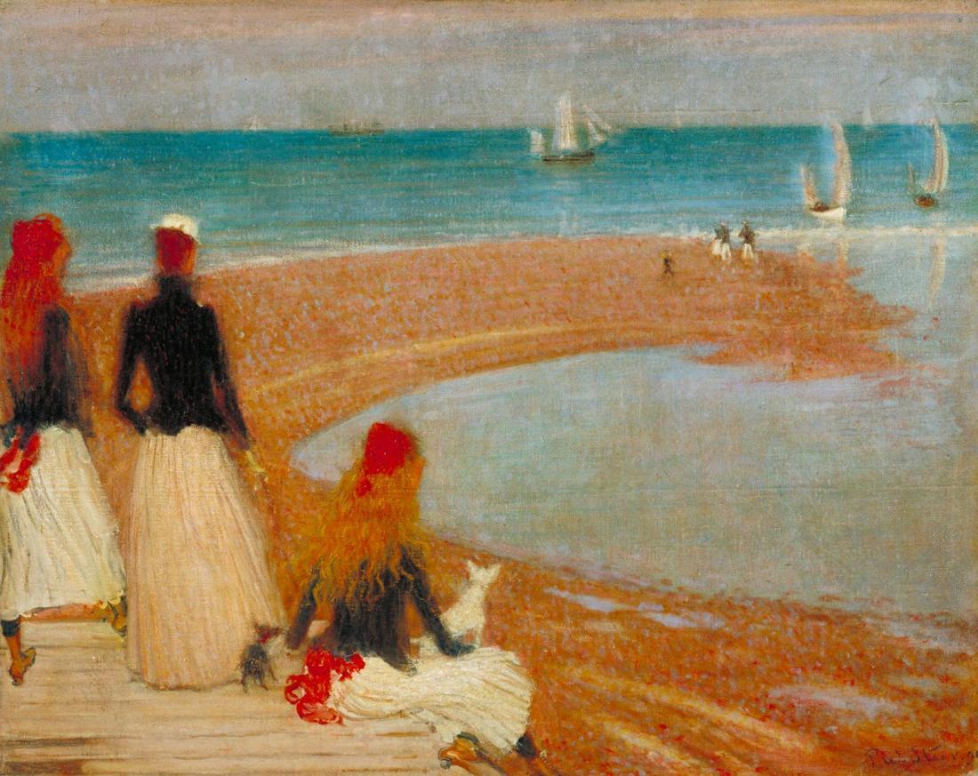 """The Beach at Walberswick."" ca 1889."