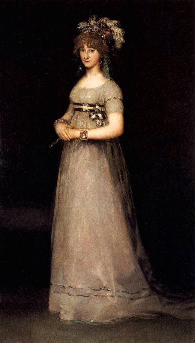 Portrait of María Luisa de Borbón y Vallabriga. 1801. Oil on canvas.