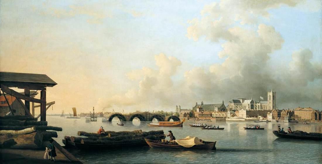 """The Building of Westminster Bridge."" 1750."