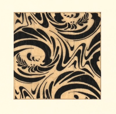 Design of a pattern for cloth or wallpaper.
