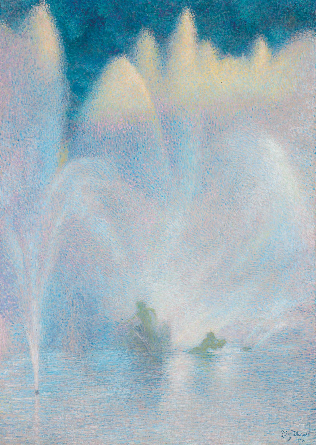 """Le Bassin d'Apollon, Versailles."" 1924."