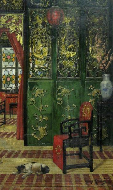 """""""Chinese Interior."""" 19th c."""