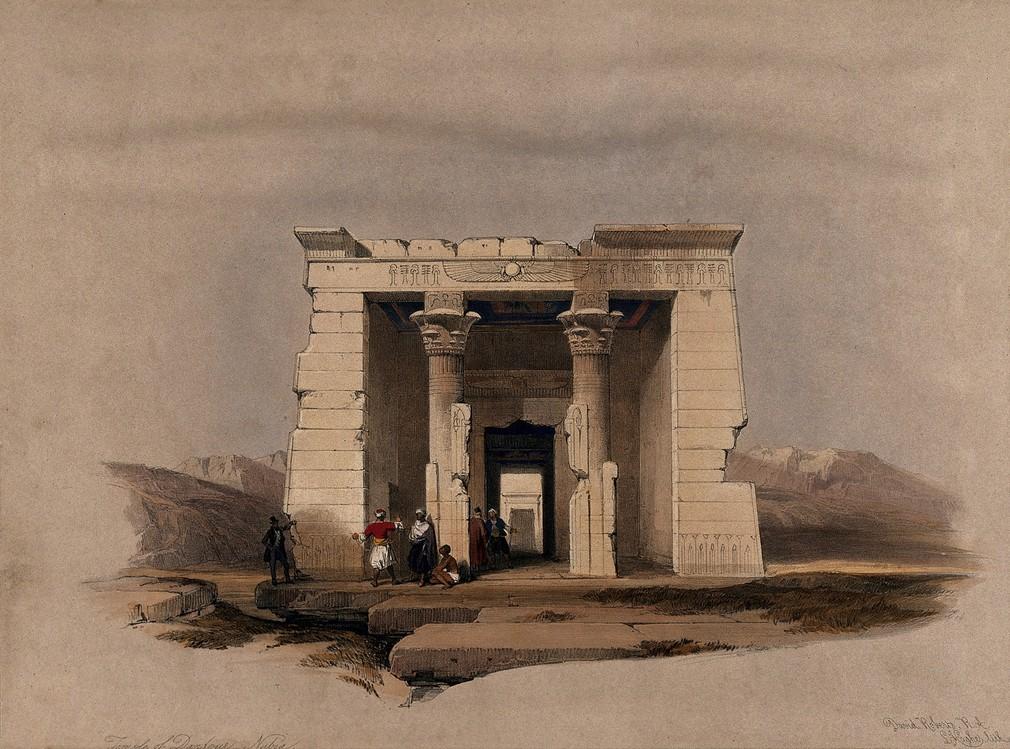 """""""Temple of Dandour - Nubia."""" 1849."""