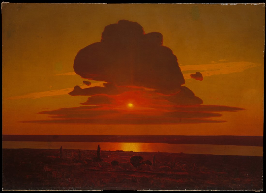 """""""Red Sunset on the Dnieper."""" 1905-1908."""