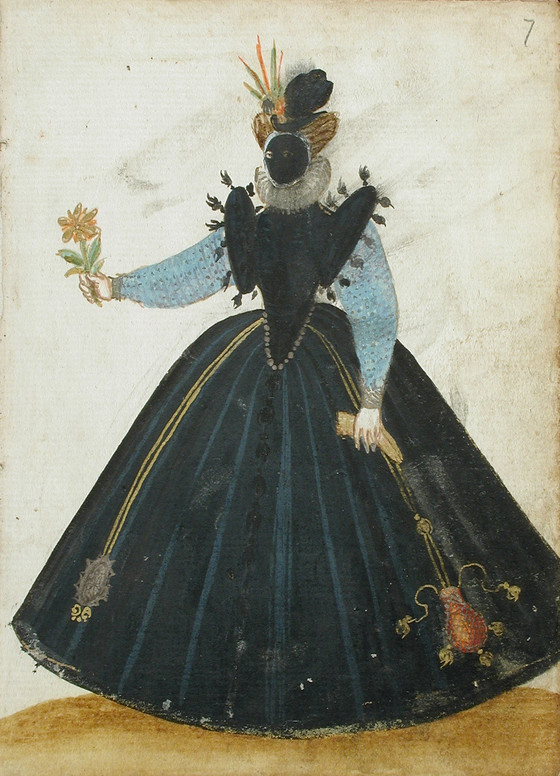 Masked woman with flower. Image #7.