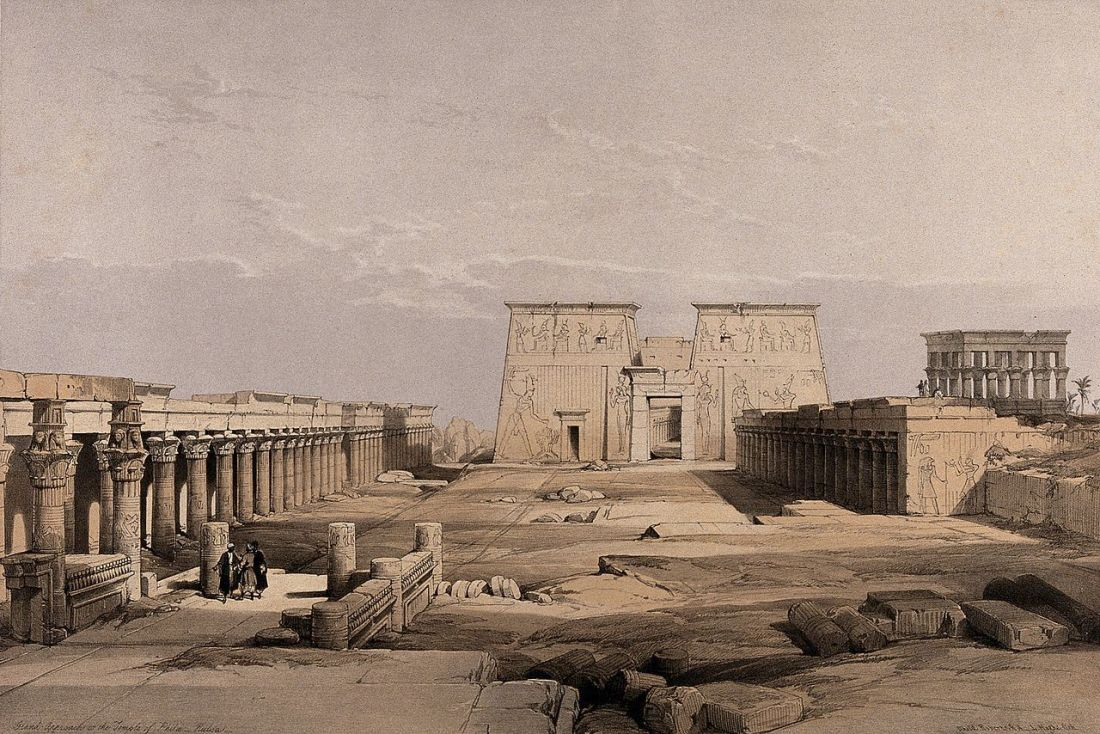 """""""Temple at Philae, Egypt."""" 1840's."""