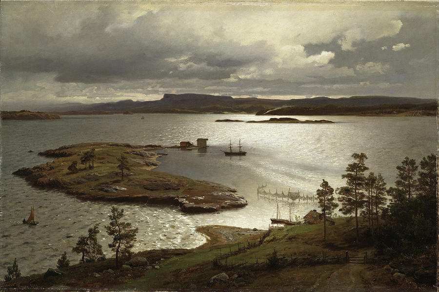 """The Fjord At Sandviken."" 1879."