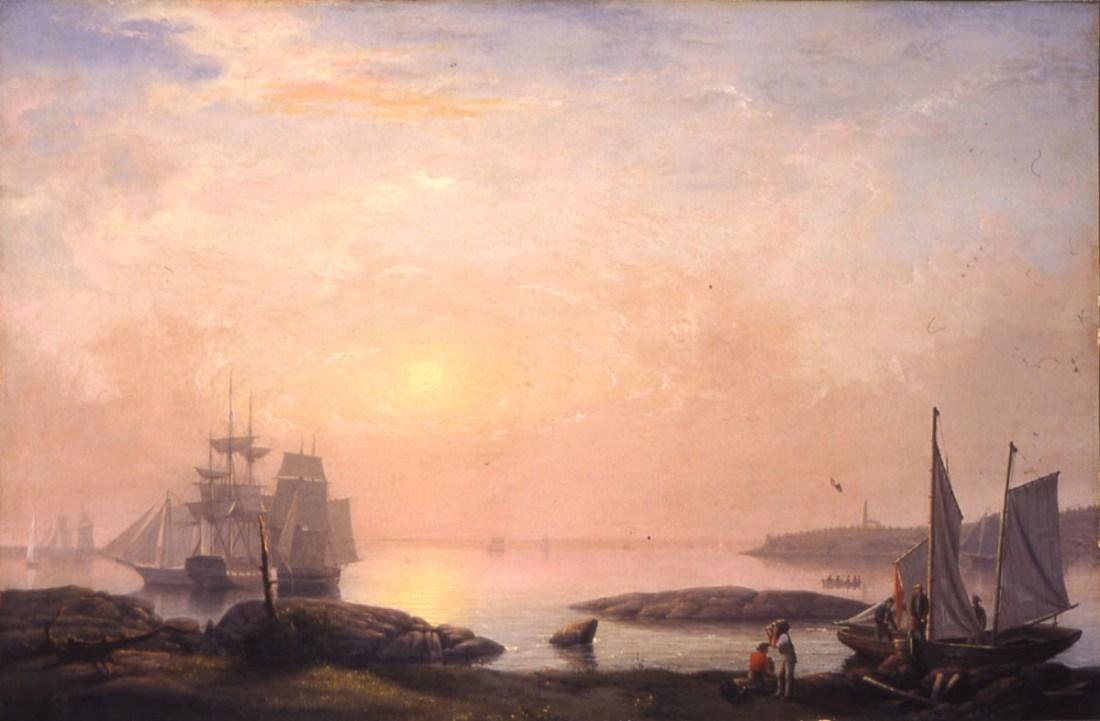 """""""Castine Harbor."""" 1852."""