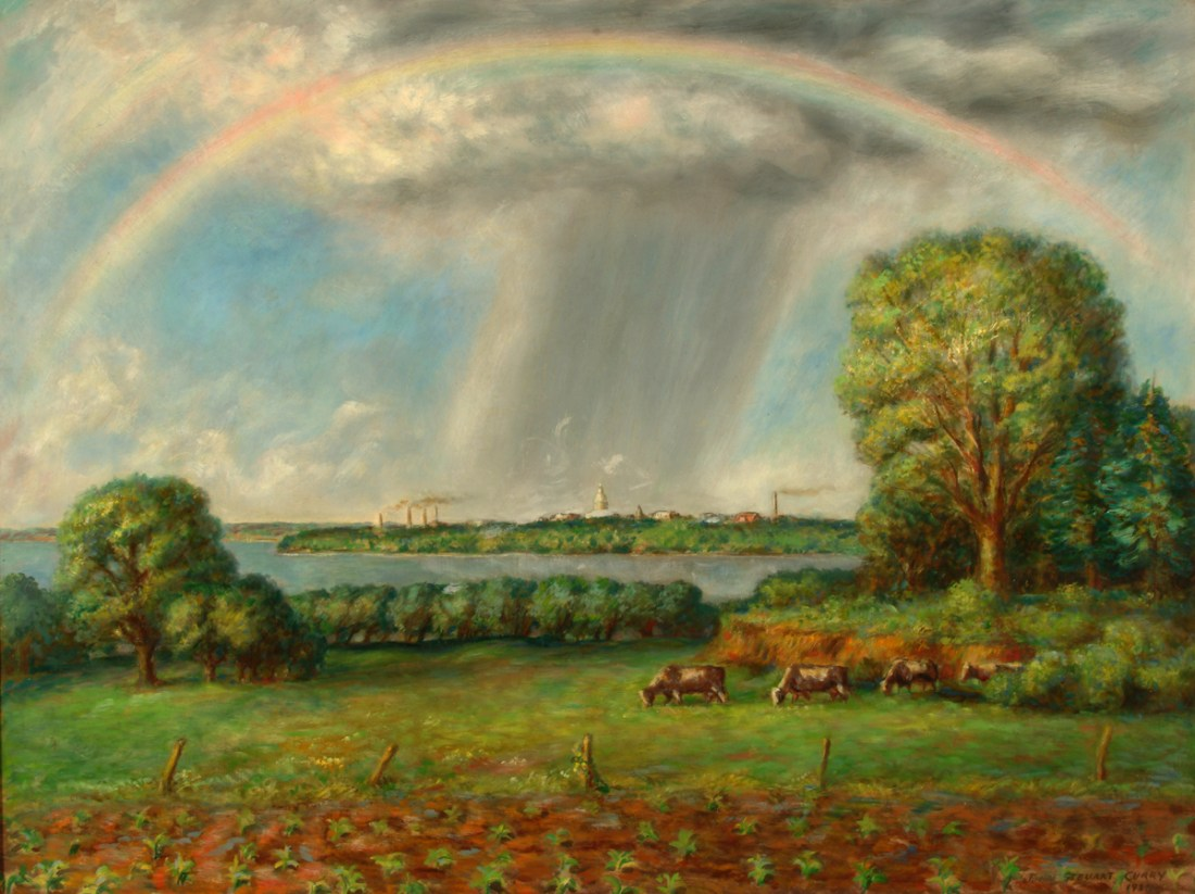 """""""View of Madison with Rainbow,"""" 1937."""