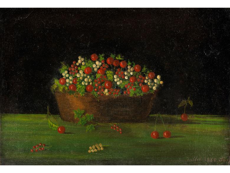Still Life with Cherry Basket. 1880.