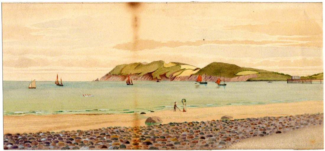 """""""Maughold Head."""" 1890. Watercolor on paper."""
