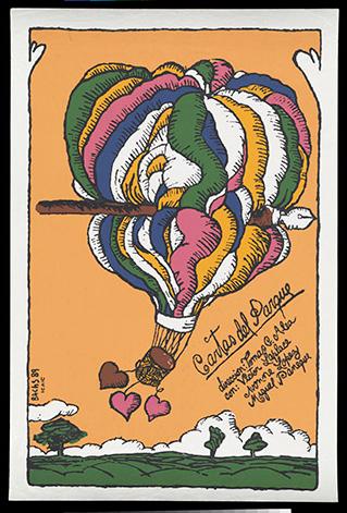 """Cartas del parque."" Issued in 1989."
