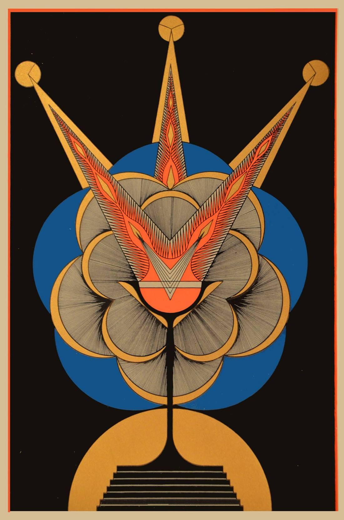"""""""The Grail."""" 1930. Silkscreen."""