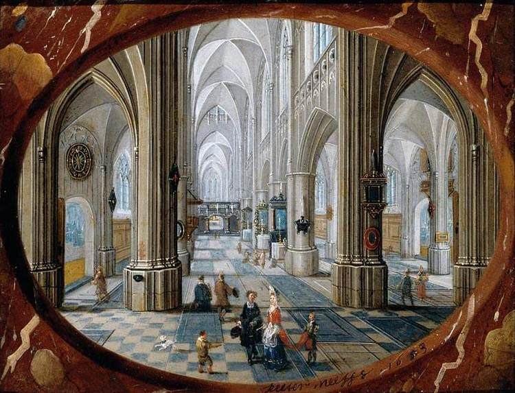 """Interior of a Gothic Church."" 1653."