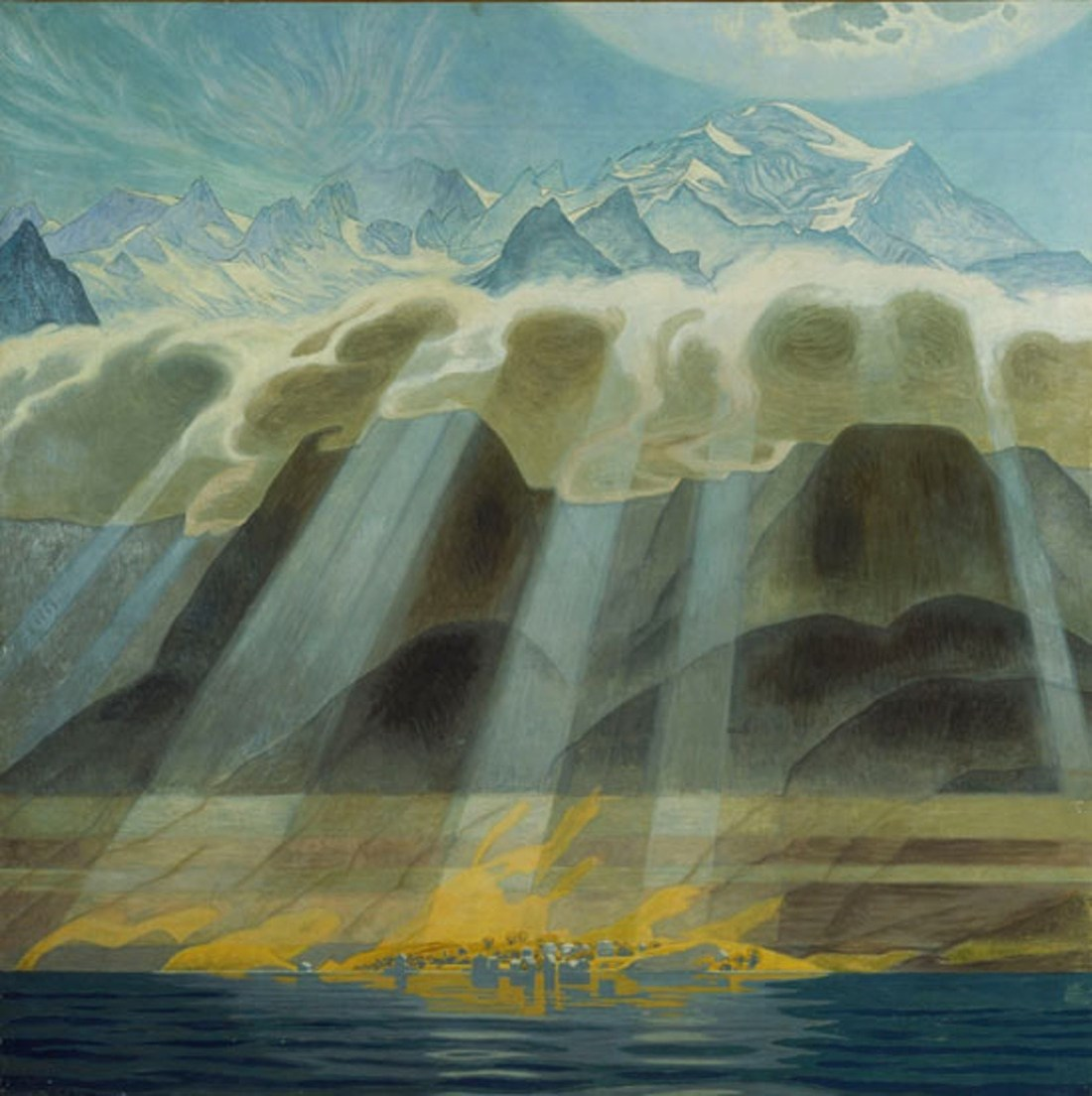 """""""Sun Over Southern Mountains."""" 1902. Oil on canvas."""