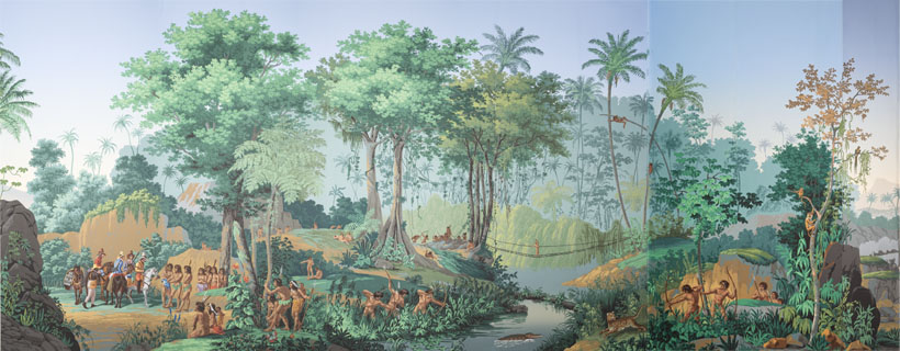 """View of Brazil."" ca. 1830. Exhibited at the castle of Mézières."