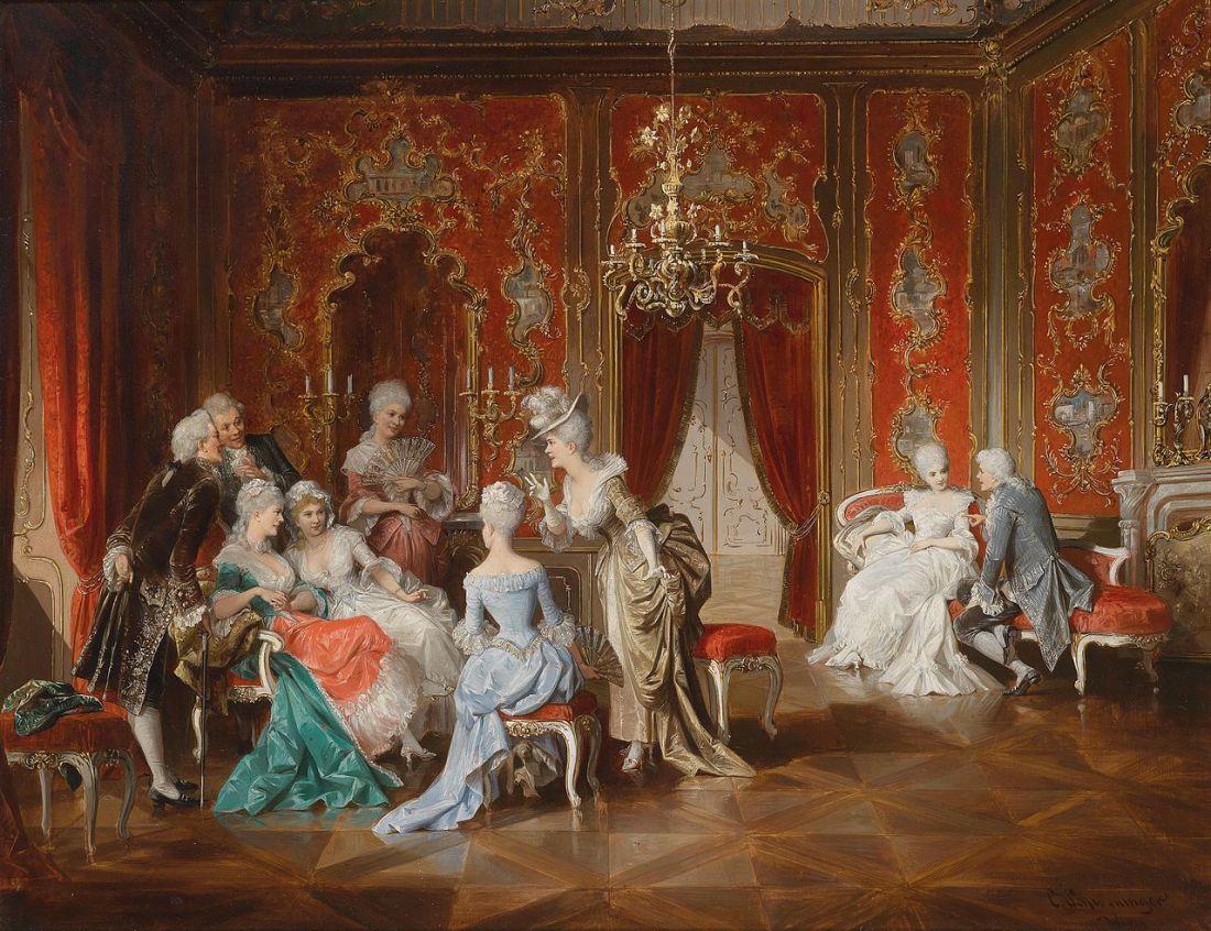 """""""Klatsch und Tratsch im Salon."""" Painted by 1903."""