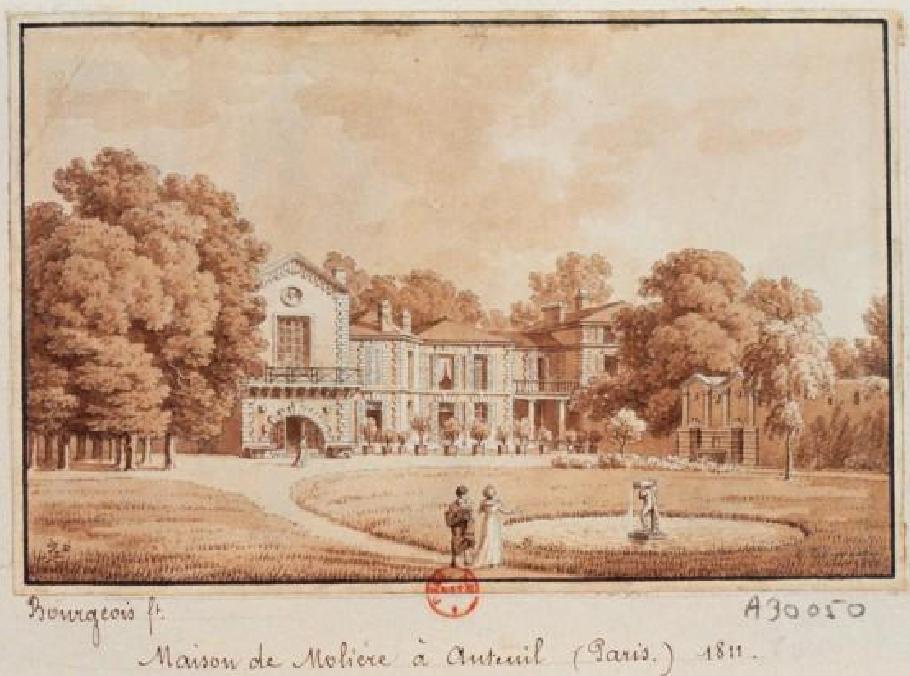 """""""La maison de Molière à Auteuil."""" 1811."""