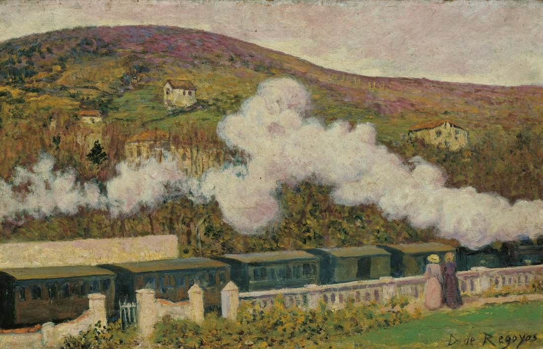 """""""The Passing of the Train."""" 1902. Oil on panel."""