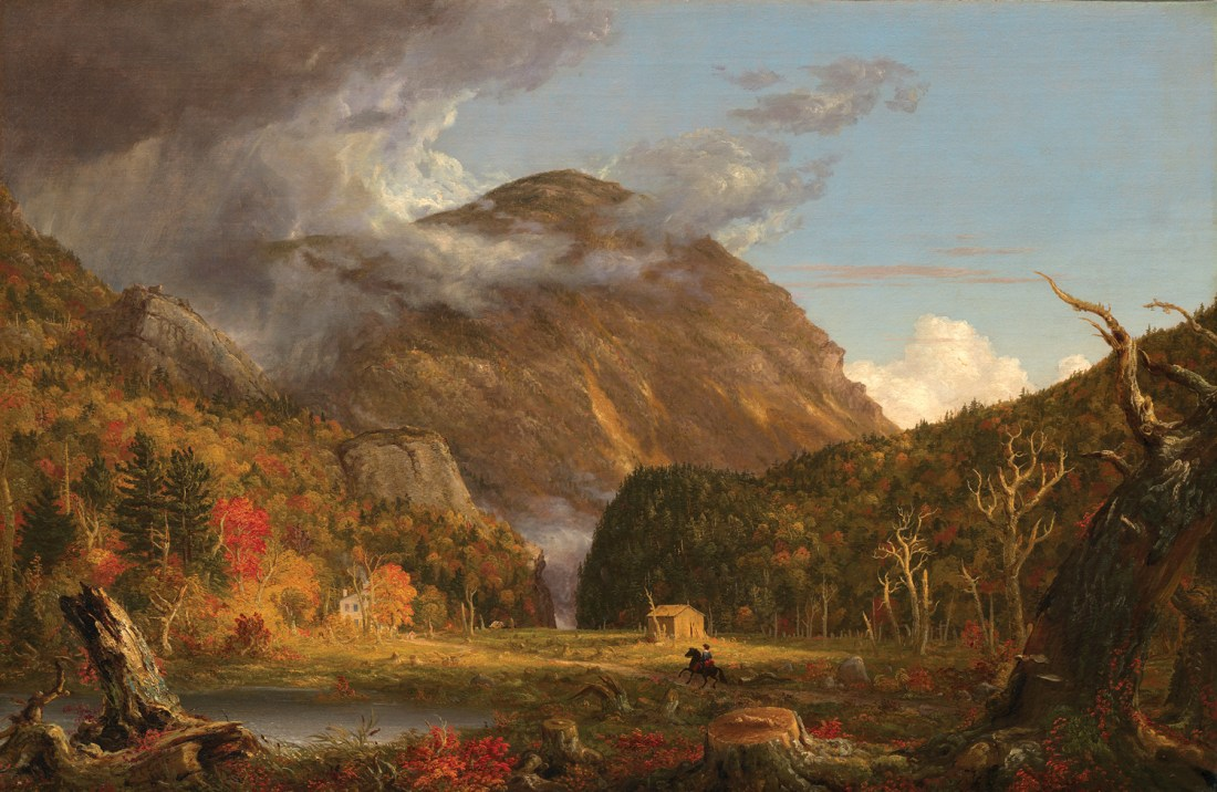 """""""A View of the Mountain Pass Called the Notch of the White Mountains,"""" 1839."""