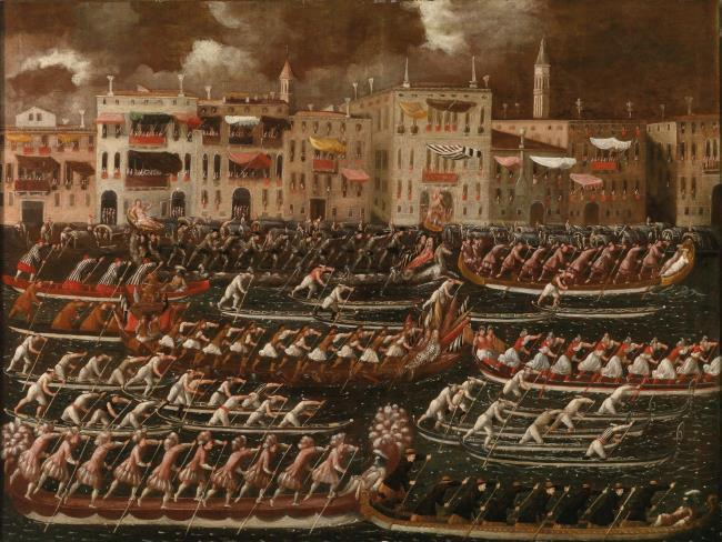 """Regatta on the Grand Canal."" ca. 1625-78."
