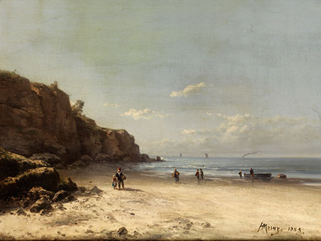 """""""Fisherman's family in the Côte d'Opale."""" 1885."""