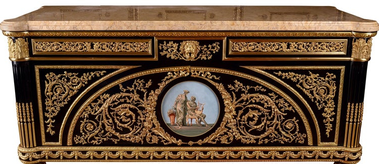 Commode in the style of Louis XV. After Joseph Stöckel and Guillaume Benneman. 20th c.