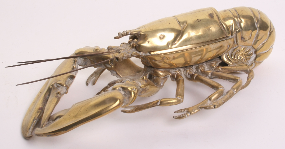 Lobster ink well. Probably ca. 1900.