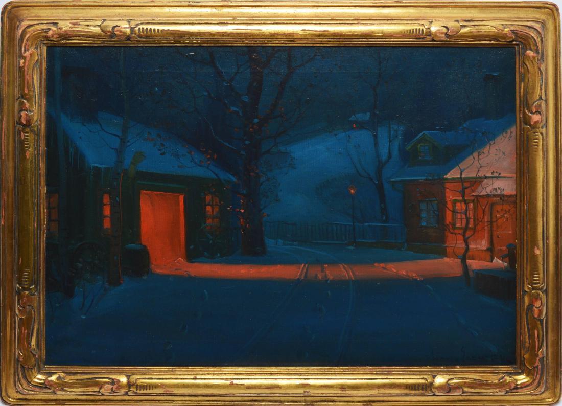 """New England Winter Landscape."" 1910."