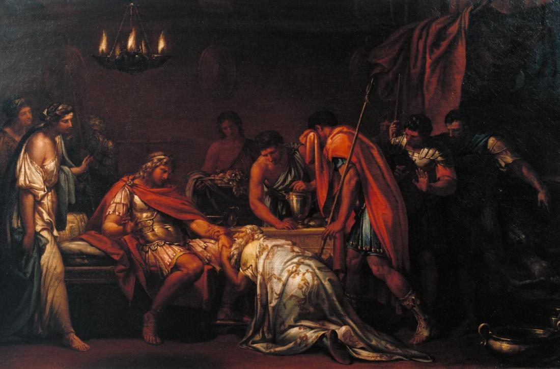 """""""Priam Pleading with Achilles for the Body of Hector."""" Engraved in 1775."""