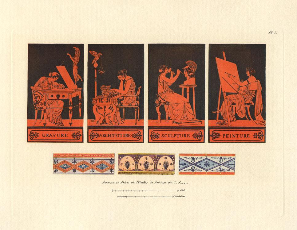 """""""Paneaux et Frises de l'Atélier de Peinture du C. I------."""" Plate 5, Cahier 1."""