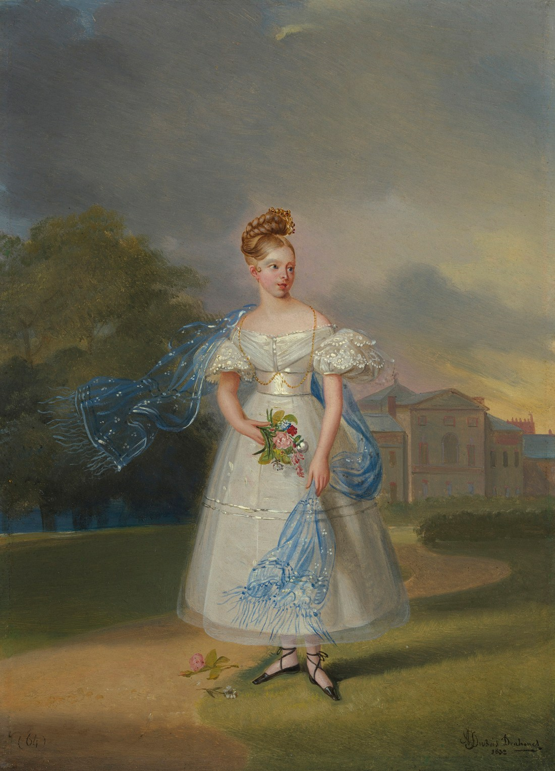 """""""Queen Victoria when a Girl."""" Signed and dated 1832."""