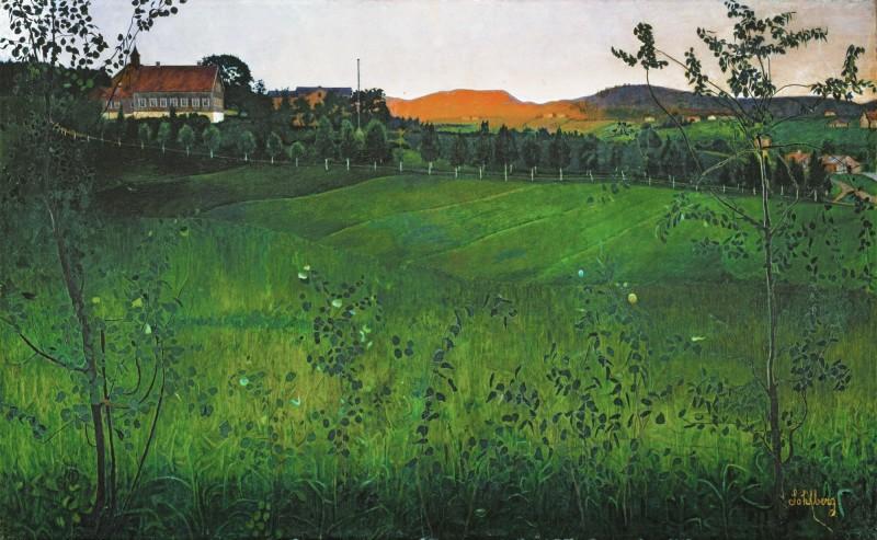 """""""Modne Jorder"""" (Ripe Fields). No date. Oil on canvas."""