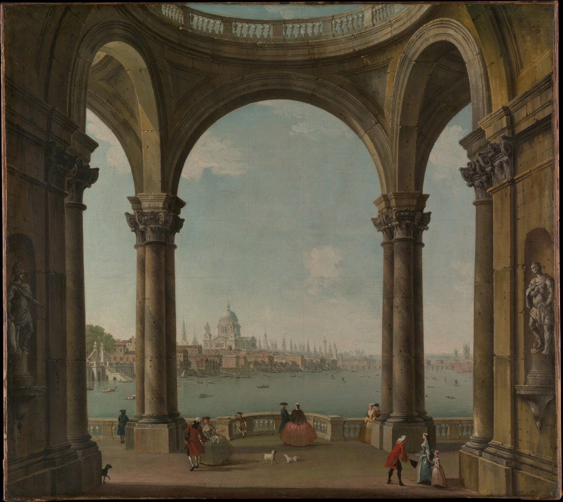 """Capriccio with Saint Paul's and Old London Bridge."" ca. 1742-1748."