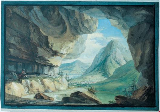 """""""La Caverne du Dragon pres de Stans."""" 18th c."""
