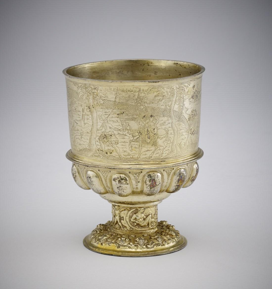 """Satzbecher"" (stacking cup).1575-1600. Silver gilt."