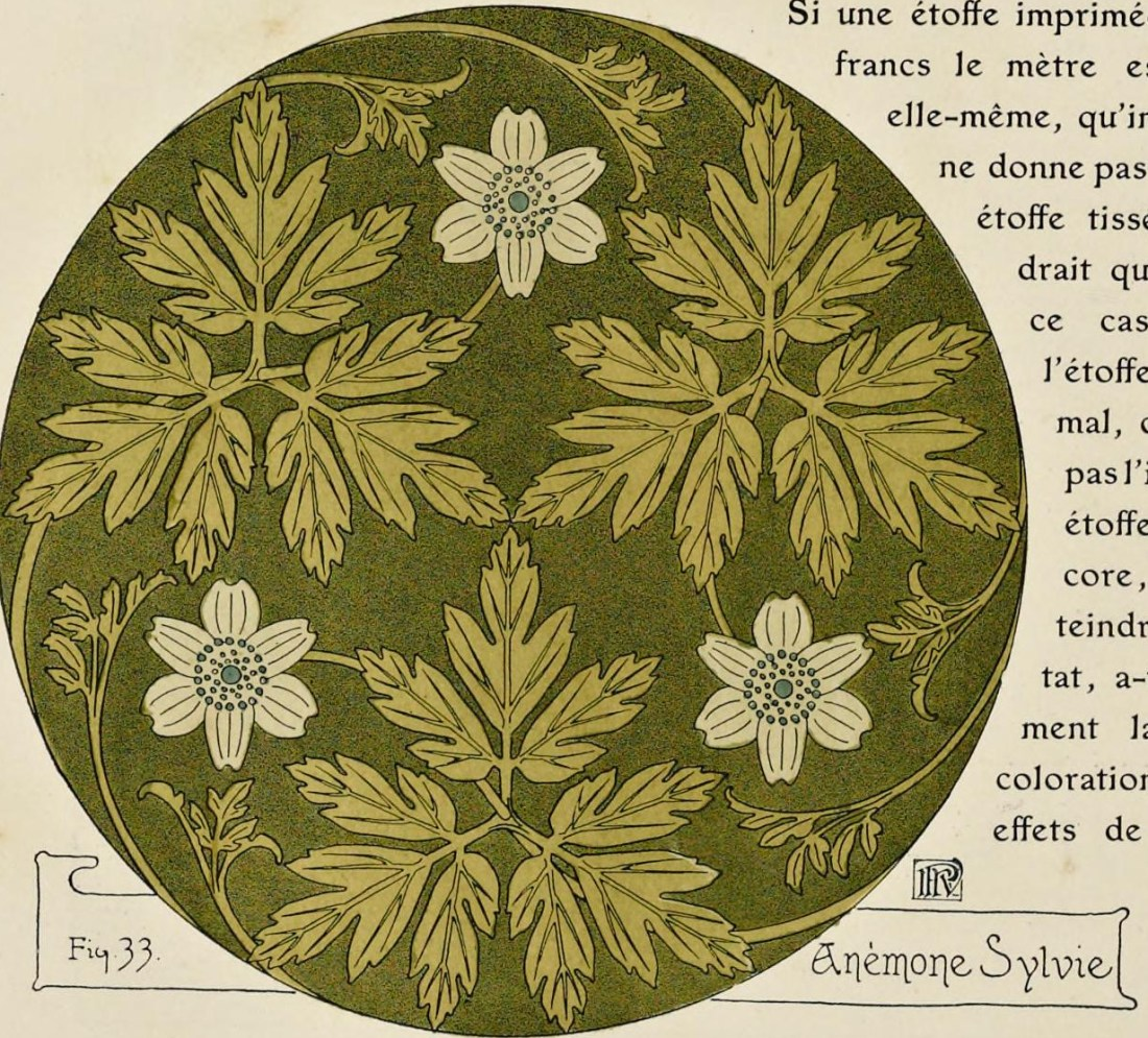 """Anémone sylvie"". Figure 33. Page 41 (detail)."