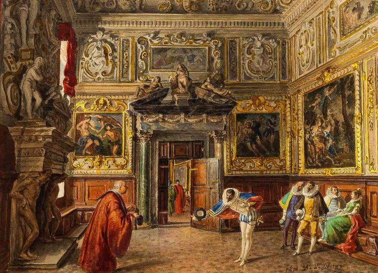 """""""Antichambre de la salle du collège."""" ca. 1850."""