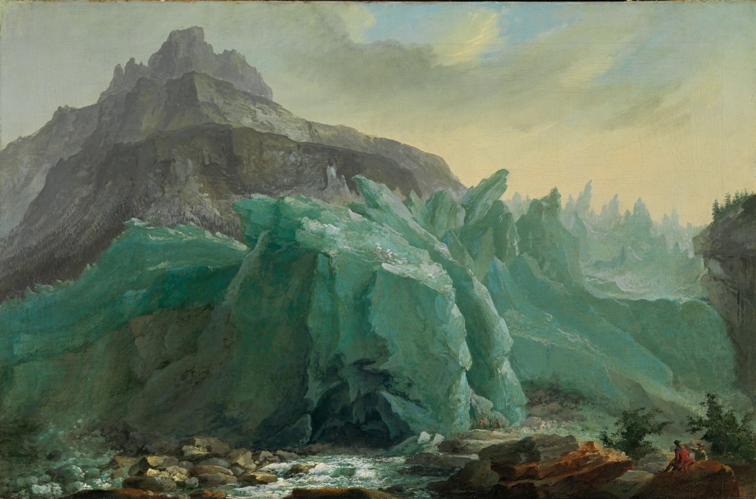 """""""Lower Grindelwald Glacier, with the Lütschine River and Mettenberg."""" ca. 1775. Oil on canvas."""