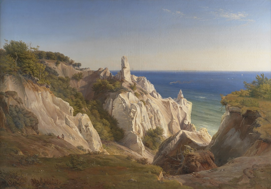 """""""The Cliffs of the Island of Møn."""" 19th c."""