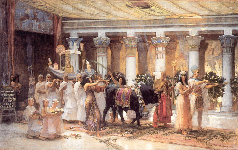 """The Procession of the Sacred Bull Anubis."" 1885. Oil on canvas."